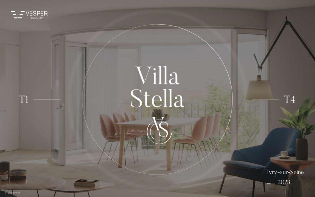 Page de garde brochure Villa Stella
